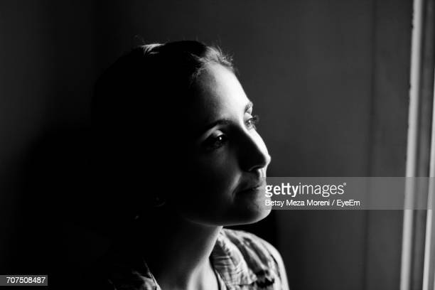 close-up portrait of girl - high contrast stock pictures, royalty-free photos & images