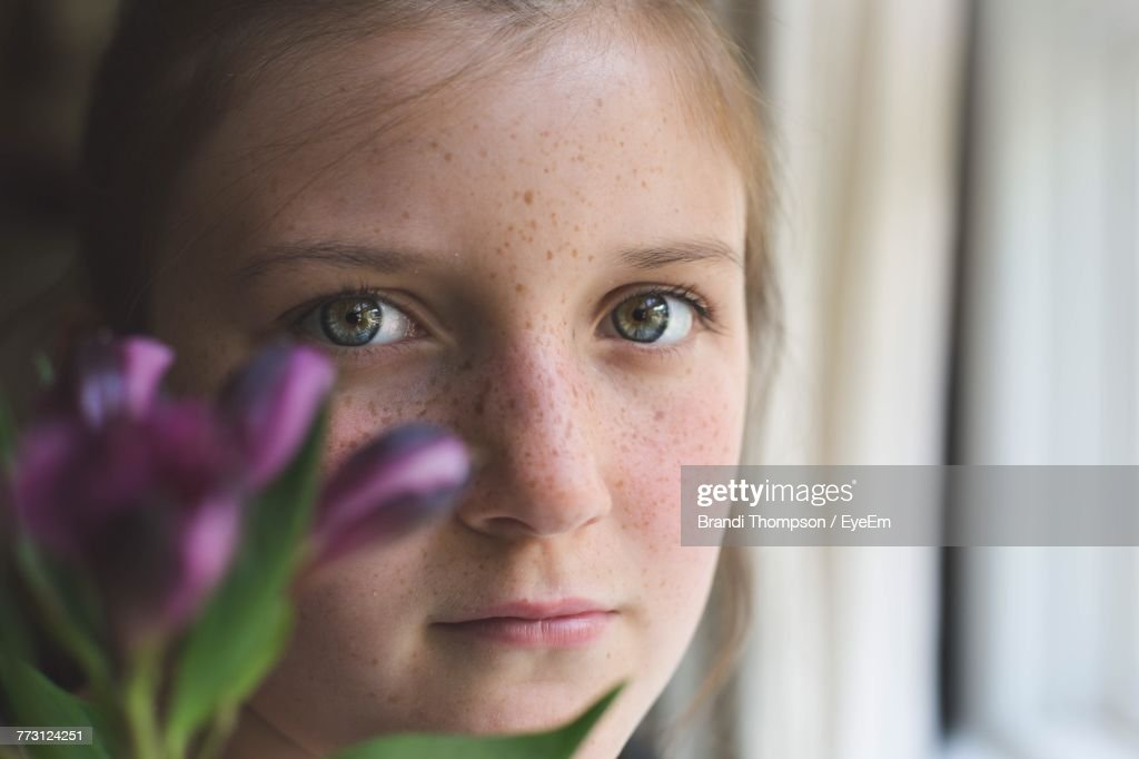 Close-Up Portrait Of Girl : Photo