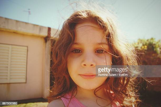 Close-Up Portrait Of Girl