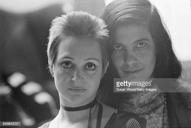 Closeup portrait of Italian actress Adriana Asti and American author critic and film director Susan Sontag 1970 Sontag directed Asti in her 1969 film...