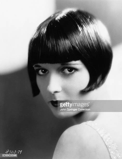 Closeup portrait of Louise Brooks famed silent movie star Photograph circa 1920s