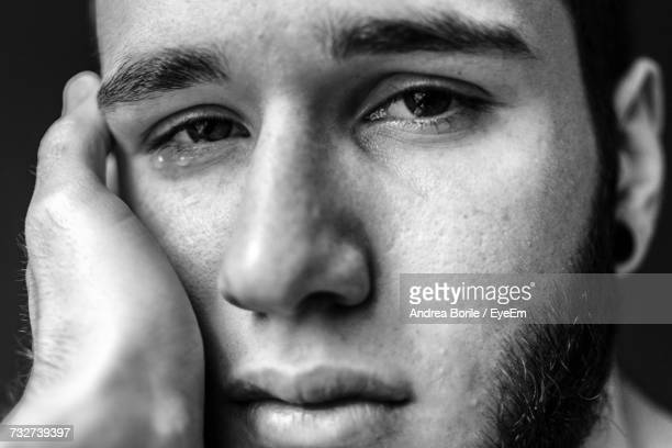 Close-Up Portrait Of Man Crying