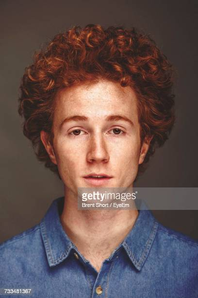 close-up portrait of man - ginger stock photos and pictures