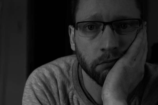 Close-up portrait of man wearing eyeglasses,Greenfield,Massachusetts,United States,USA