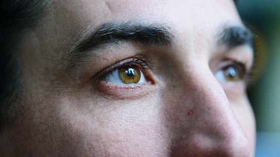 Closeup portrait of mid adult man 949102818