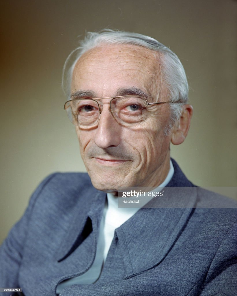 Close-up portrait of noted undersea explorer Jacques Cousteau (1910 - 1997). He co-invented the scuba system in 1943. Photo taken in Boston, 1978.