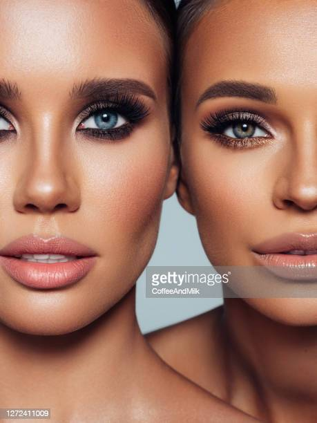 close-up portrait of the beautiful girls - lips stock pictures, royalty-free photos & images