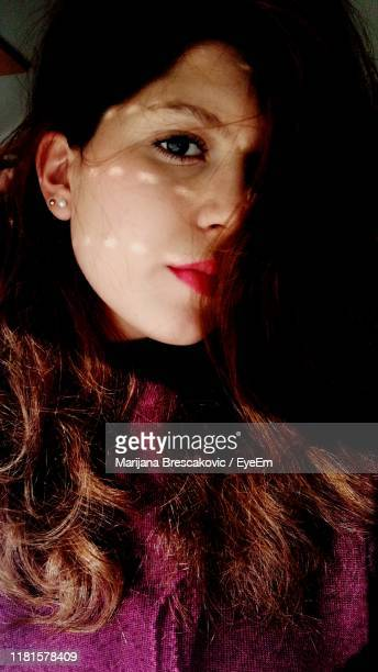 close-up portrait of woman - marijana stock pictures, royalty-free photos & images
