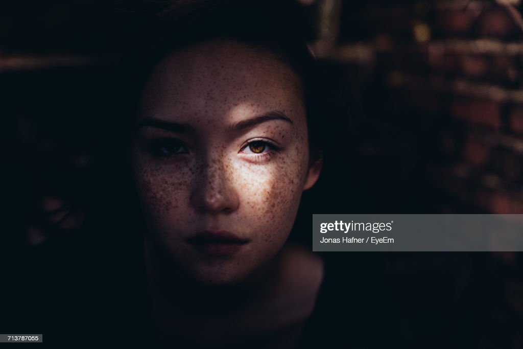 Close-Up Portrait Of Woman : Stock Photo
