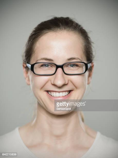 close-up portrait of woman smiling - part of a series stock pictures, royalty-free photos & images