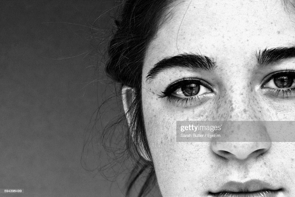 Close-Up Portrait Of Young Woman : Stock Photo