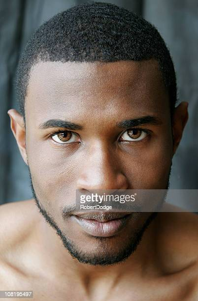 close-up portrait - most handsome black men stock photos and pictures