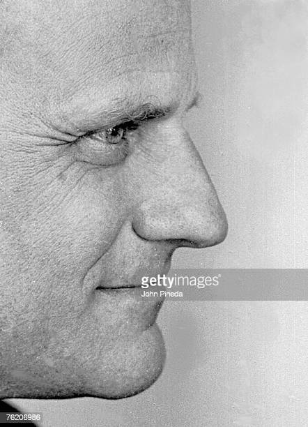 Closeup profile of American evangelical minister Reverend Billy Graham Miami Florida 1966