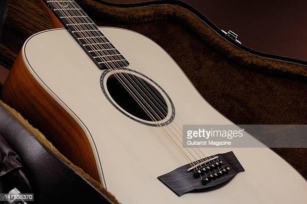 A closeup shot of a Faith Saturn 12string acoustic guitar during a studio shoot for Guitarist Magazine/Future via Getty Images November 9 2009
