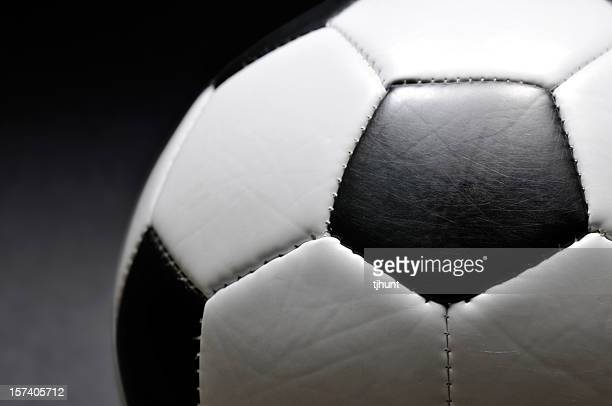 A close-up shot of a soccer ball