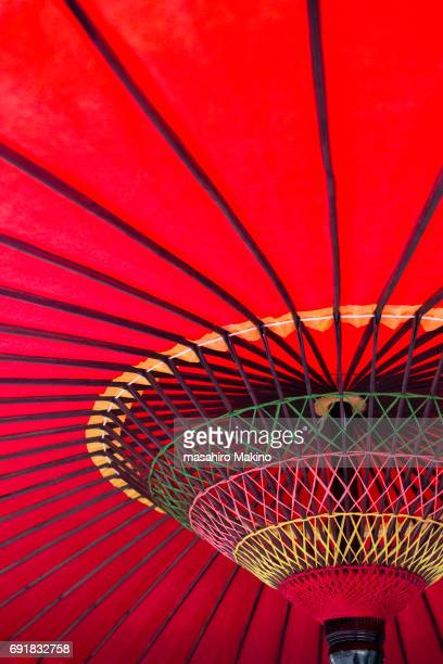 Close-up Shot of Japanese Umbrella
