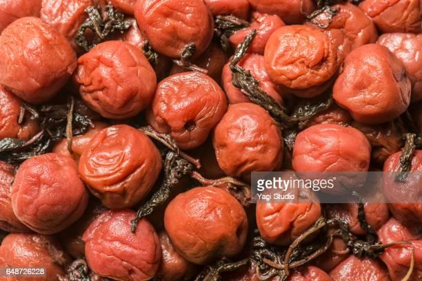 Close-up shot of salted plum