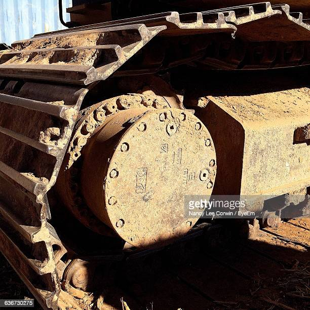 Close-Up Side View Of Cropped Military Tank