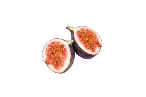 Close-up studio shot of organic fig cross-section - gettyimageskorea