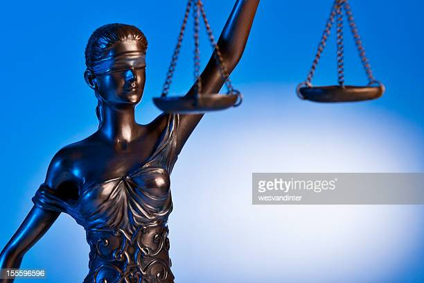 Close-up Themis with blue background
