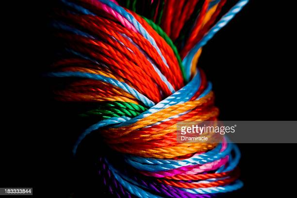 Close-up To Colorful  Knot