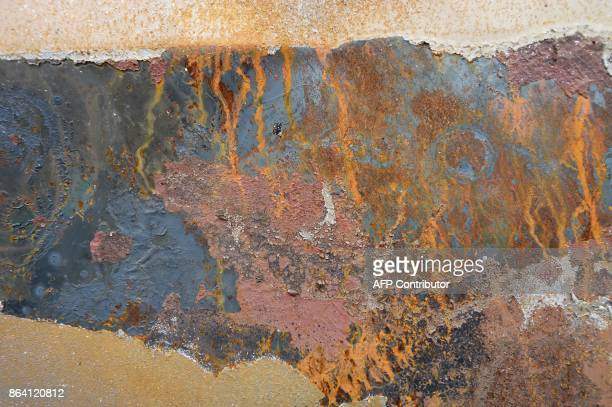 A closeup view of a burned vehicle is seen in Santa Rosa California on October 20 2017 Residents are being allowed to return to their burned homes on...