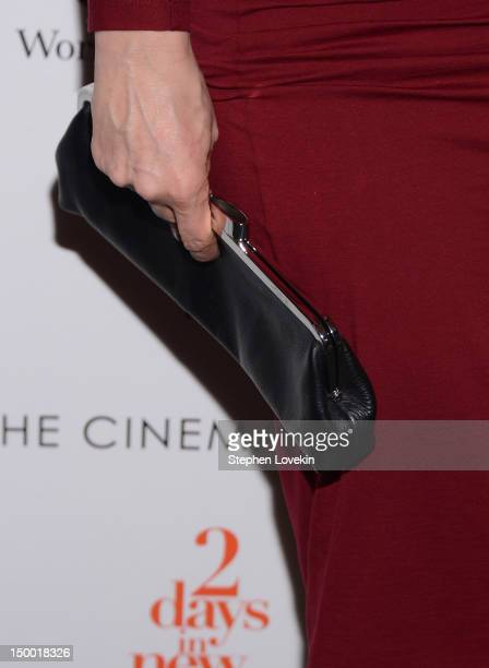 A closeup view of actress Julie Delpy's purse at The Cinema Society special screening of Two Days In New York at Landmark Sunshine Cinema on August 8...