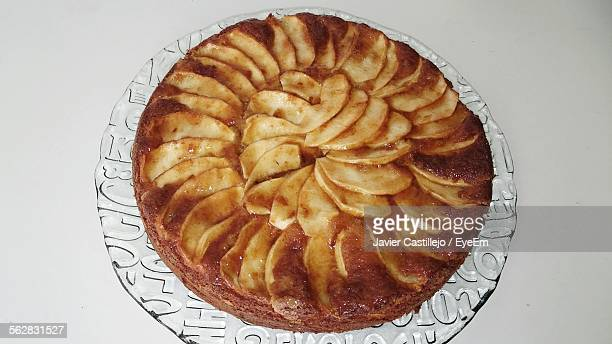 Close-Up View Of Apple Pie On Plate