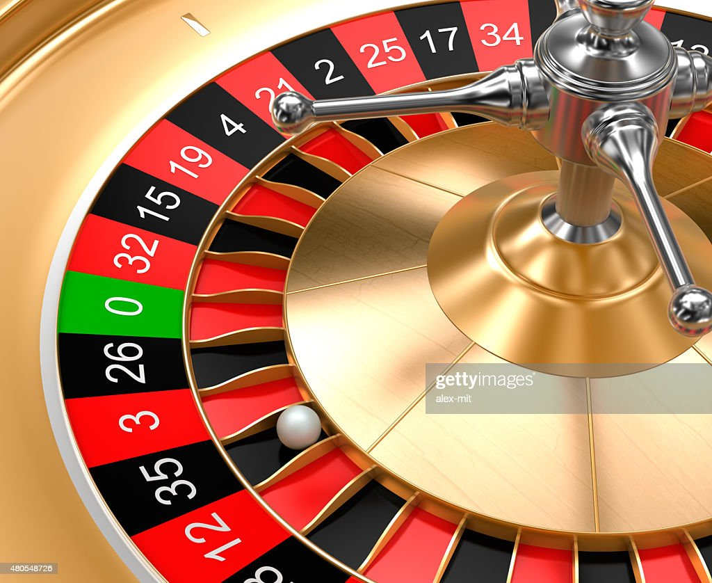 Close-up view of casino roulette : Stock Photo