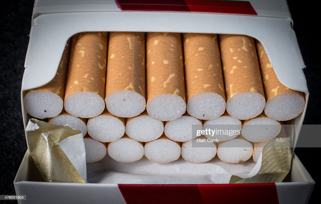 A close-up view of cigarettes on June 10, 2015 in Bristol, England. Health campaigners have asked for a levy on the tobacco industry to help fund anti-smoking measures.