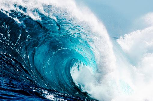 Close-up view of huge ocean waves 155380802