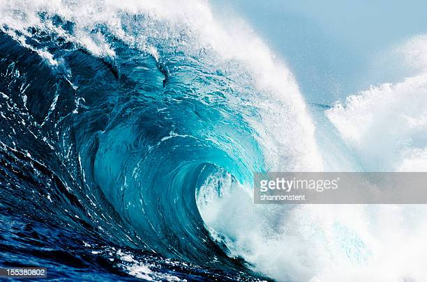 close-up view of huge ocean waves - tide stock pictures, royalty-free photos & images