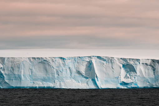 close-up view of iceberg at dusk in the Antarctica - gettyimageskorea