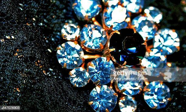 Close-Up View Of Jewelry With Diamonds