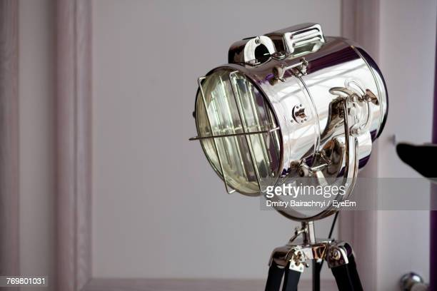 Close-Up View Of Lamp On Tripod