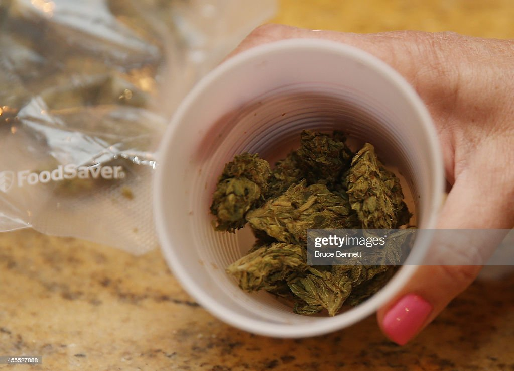 A closeup view of marijuana as photographed on August 30, 2014 in Bethpage, New York.
