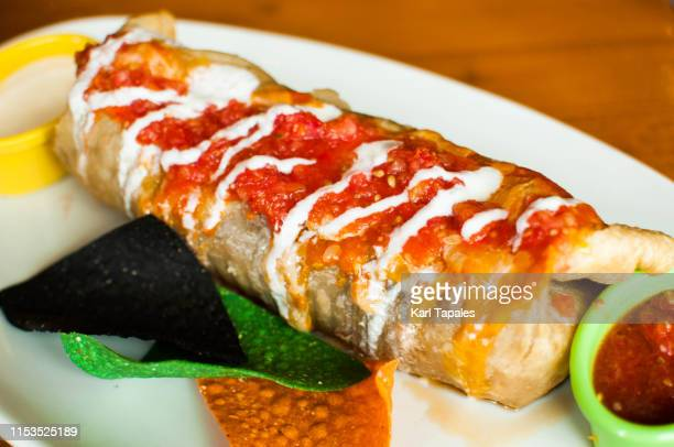 a close-up view of mexican burrito - capital region stock pictures, royalty-free photos & images