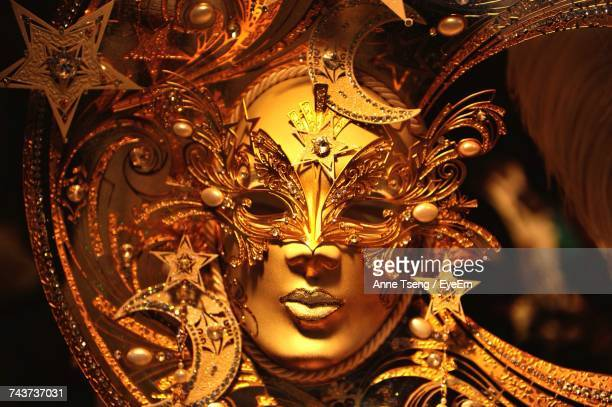 Close-Up View Of Ornate Mask
