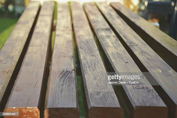 close-up view of picnic table - picnic table stock pictures, royalty-free photos & images