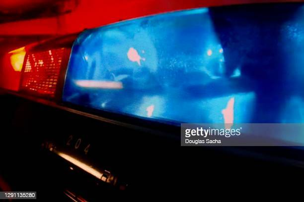 closeup view of police car led lights - streaker stock pictures, royalty-free photos & images