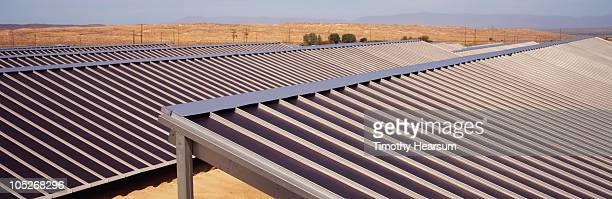 close-up view of solar panels - timothy hearsum stock-fotos und bilder