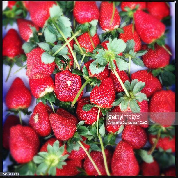 Close-Up View Of Strawberries