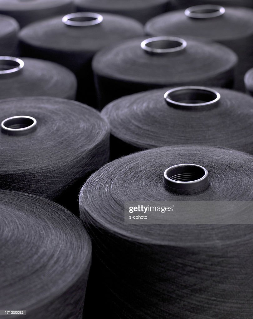 Closeup view of textile factory detail : Stock Photo