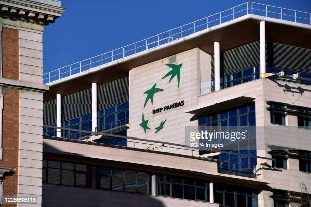 Close-up view of the BNP Paribas Cap Joliette bank building in Marseille. The French bank BNP Paribas is accused by two NGOs and nine Sudanese...