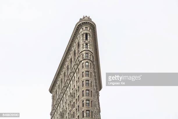 Close-up view of the Famous Flatiron Building, Manhattan, New York