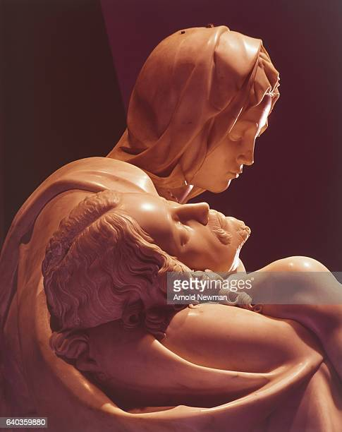 Close-up view of the Pieta , Vatican City, July 19, 1965.