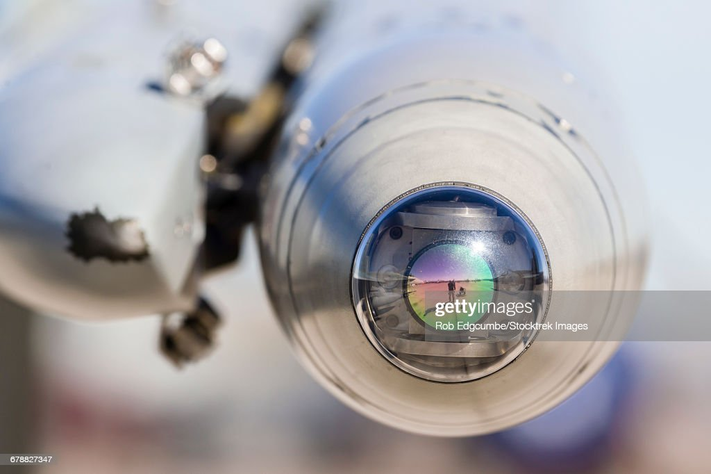 Close-up view of the seeker head of an ASRAAM missile. : ストックフォト