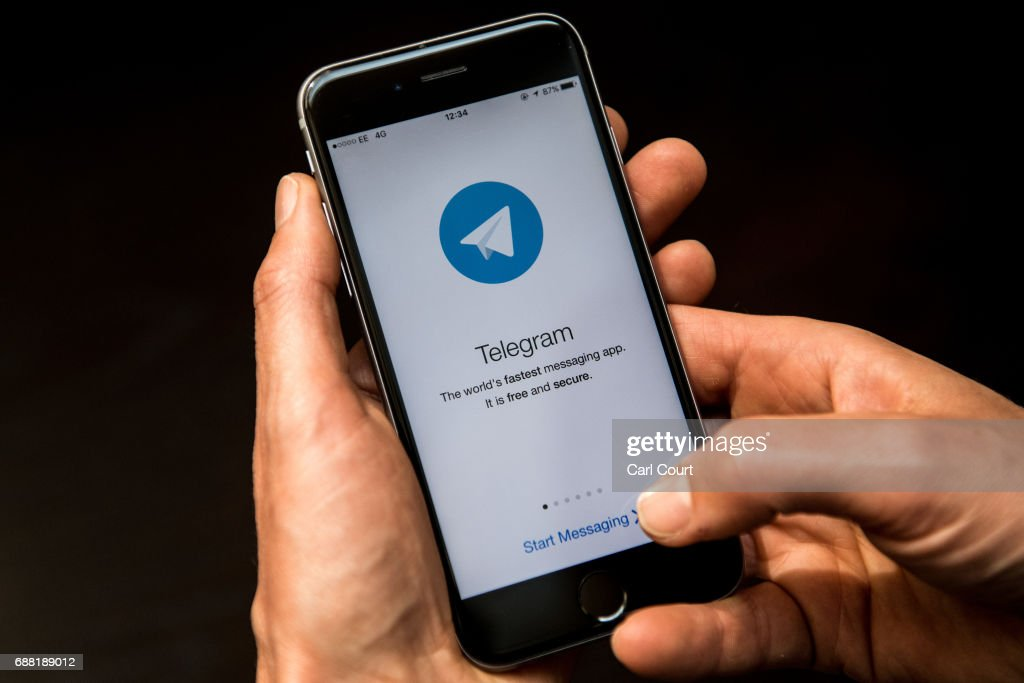A close-up view of the Telegram messaging app is seen on a smart phone on May 25, 2017 in London, England. Telegram, an encrypted messaging app, has been used as a secure communications tool by Islamic State.