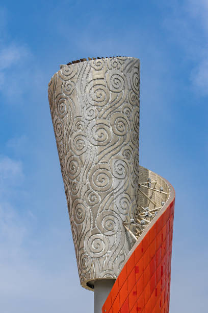 Close-up view of the Torch in Beijing Olympic Park