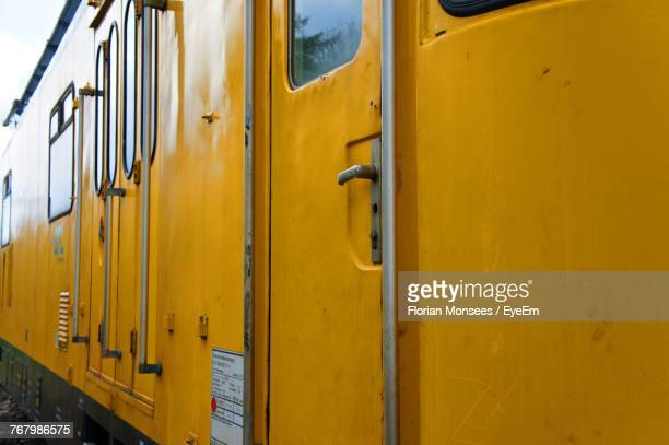 Close-Up View Of Yellow Train